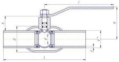 Конструкция LD КШ.Ц.П.GAS.025.040.Н/П.02 Ду25