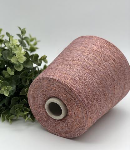 Вискоза с люрексом Fashion Mill P9949 P PARTY 3500  сиреневая пудра, розово-сиреневый с золотым напылением