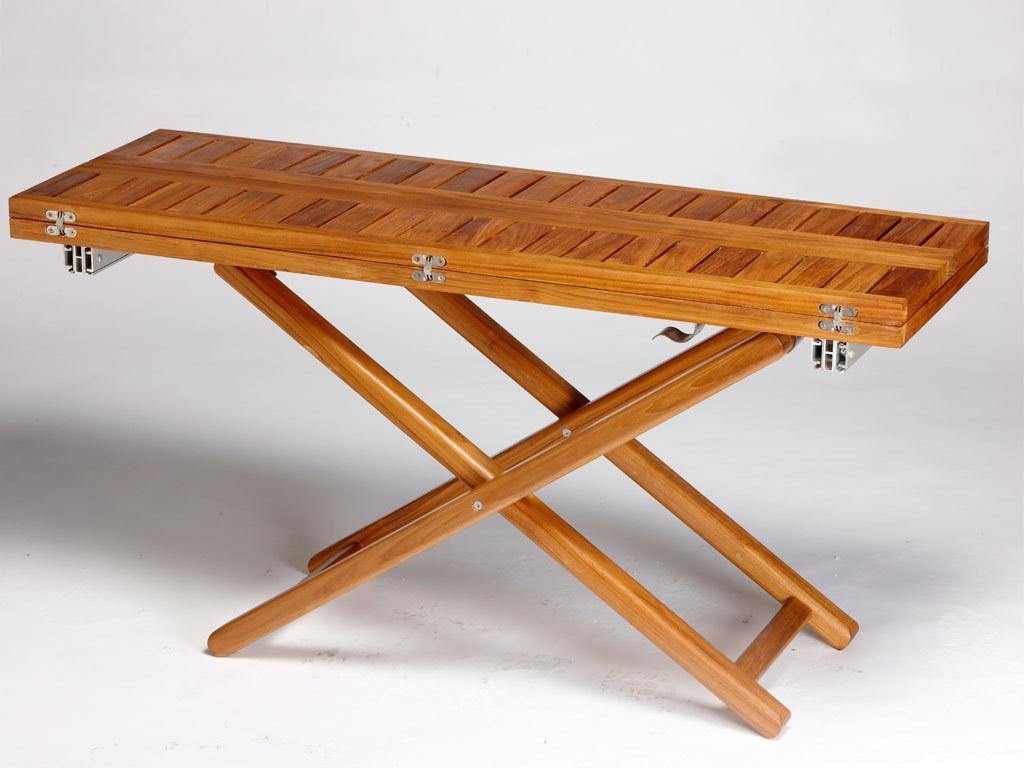 DOUBLE TABLE TEAK 120×40/ 120X80 CM