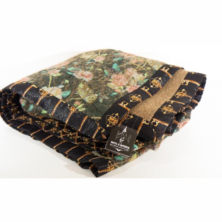Одеяло из верблюжьей шерсти декорированное шелком Dolce&Gabbana