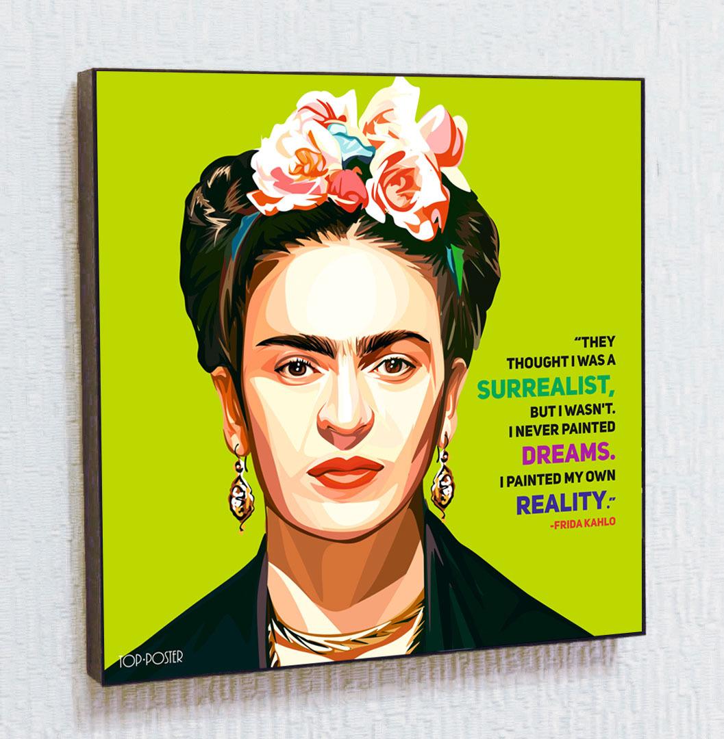 Картина ПОП-АРТ Фрида Кало портрет TOP POSTER