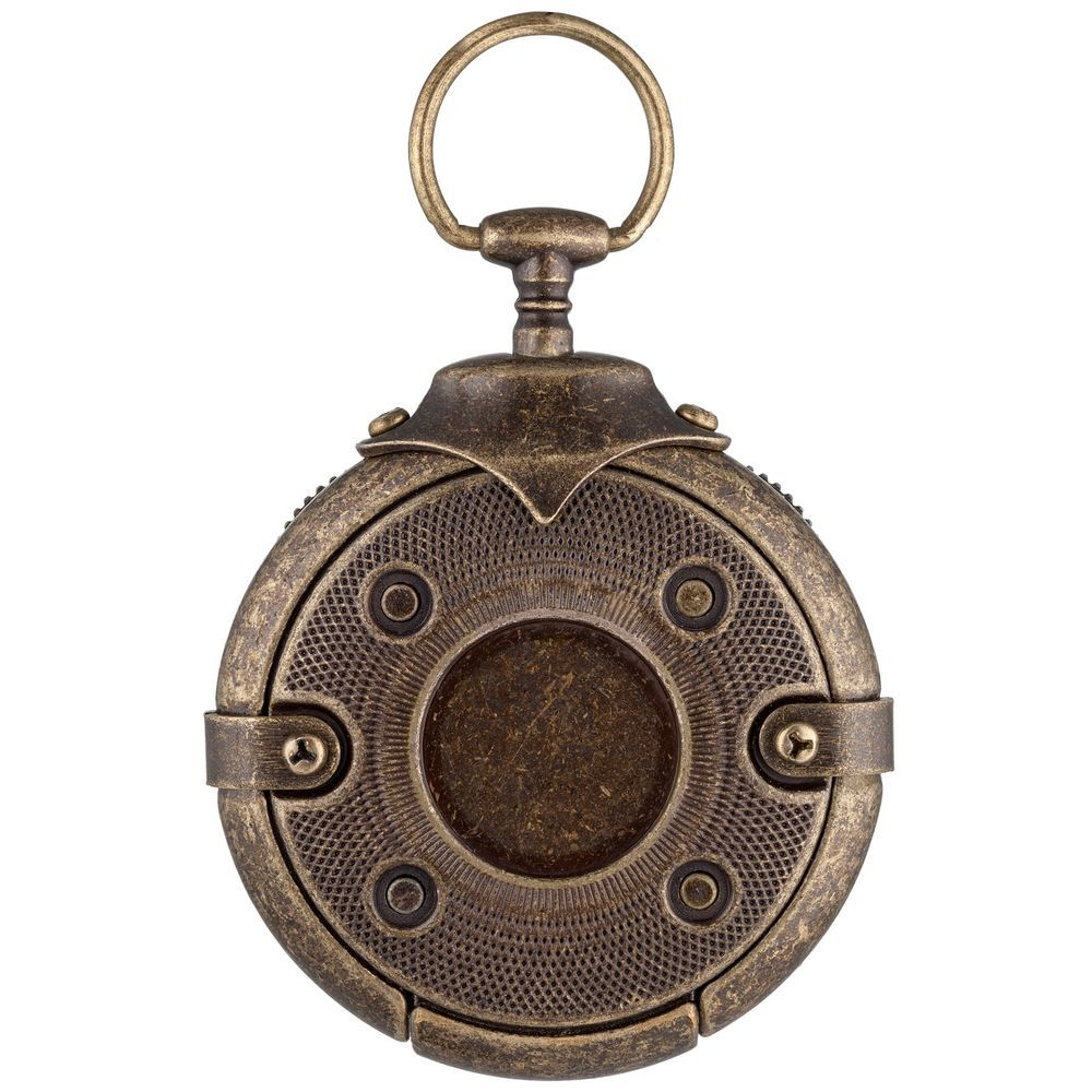 Cryptex Round Lock Kompass, USB-Stick in Antique Gold