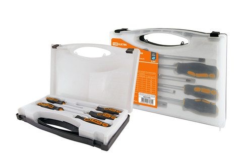 Набор отверток 4 шт.: SL3x75, SL5х100, PH1х75, PH2х100 (пласт. чемодан), CR-V