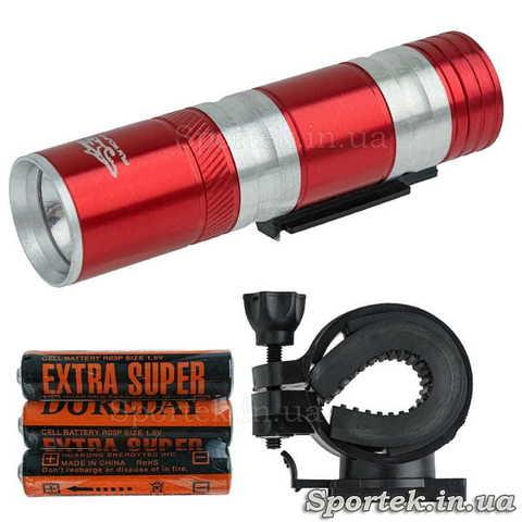 Передній знімний велосипедний ліхтар wolFBase TQ-L48 для велосипедистів (червоний)