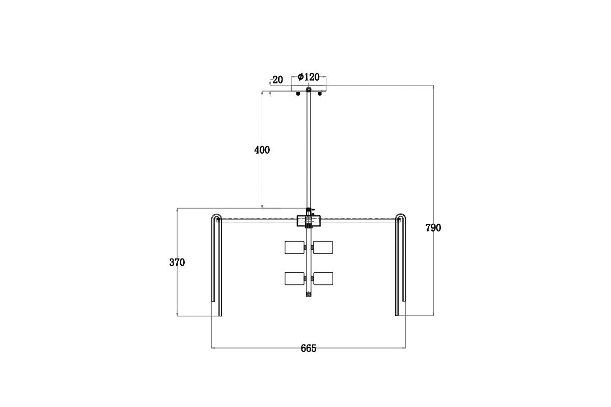 20MD3449-6 Светильник потолочный d66*35см