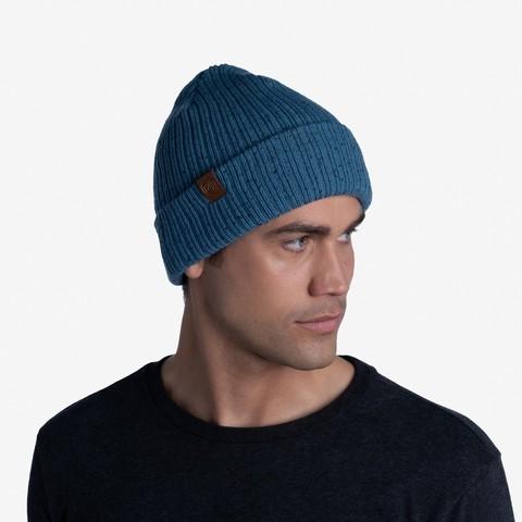 Вязаная шапка Buff Hat Knitted Kort Dusty Blue фото 2