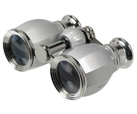 Бинокль Veber БГЦ 4x30 А02  серебро/серебро с фокусировкой