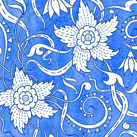 Белые цветы на текстурном фоне