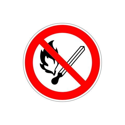 P02 Запрещается пользоваться открытым огнем и курить (плёнка ПВХ, 200х200)