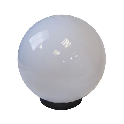Садово-парковый светильник шар молочный D250mm с пластиковой опорой H1000mm