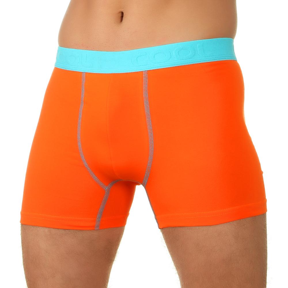 Мужские трусы боксеры оранжевые E5 Underwear Cotton 021