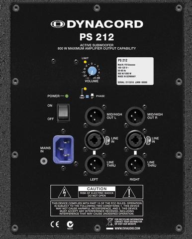 Сабвуферы активные Dynacord PowerSub 212