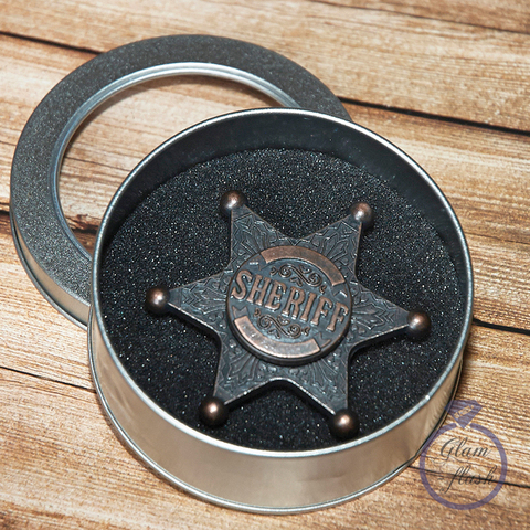 Спиннер металлический звезда шерифа 17015M