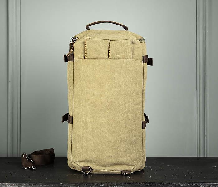 BAG309-3 Мужская сумка сумка рюкзак из плотного текстиля фото 06