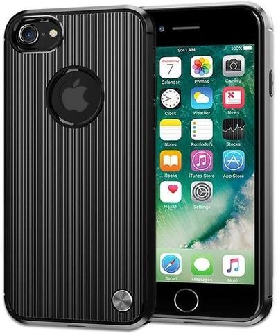 Чехол iPhone 7 (iPhone 8) цвет Black (черный), серия Bevel, Caseport