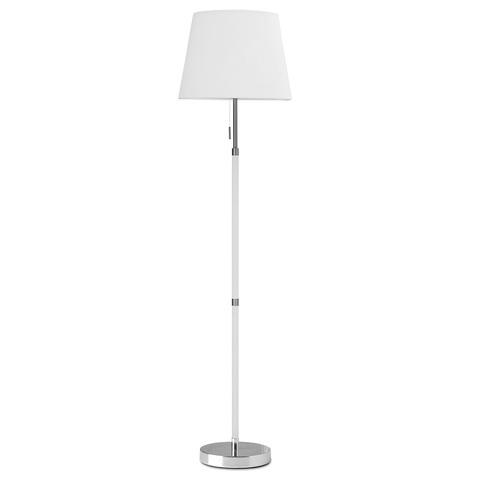 Лампа напольная Venice, белая, хром