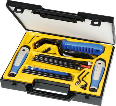 Набор универсальных инструментов для удаления заусенцев / шаберов в пластмассовом футляре 22 предмета