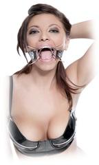 Металлический расширитель для рта на кожаном ремешке Spider Gag -