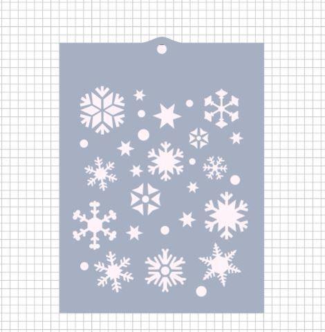 Трафарет №145 - Снежинки