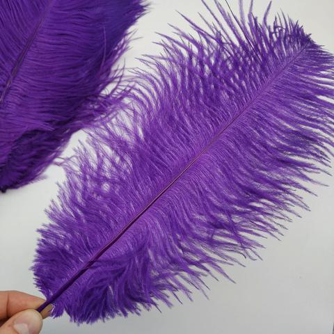 Перья страуса  декоративные  30-35 см. 25 шт. фиолетовый