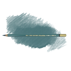 Карандаш художественный акварельный MONDELUZ, цвет 21 сине-зеленый