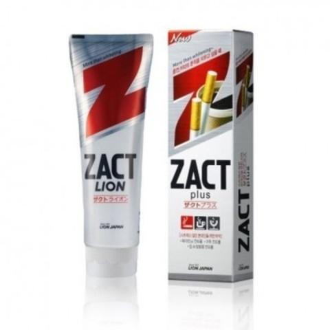 Зубная паста, CJ Lion, Zact plus, для устранения никотинового налета и запаха, 150 гр