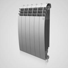 Радиатор биметаллический Royal Thermo Biliner Silver Satin 500 (серебристый)  - 12 секций