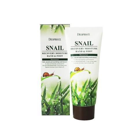 Улиточный восстанавливающий крем для рук и ног Deoproce Snail Recovery Moisture Hand & Foot Cream