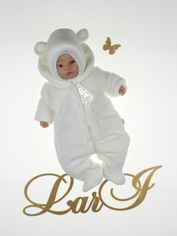 Демисезонный комбинезон Мишка (молочный)