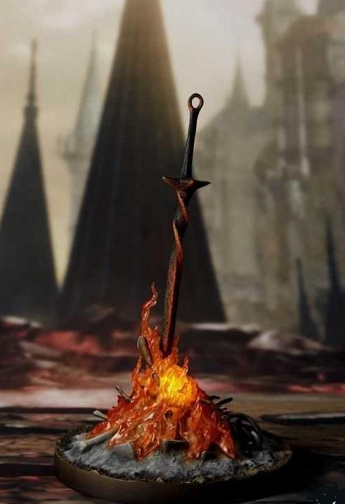 Тёмные души 3 горящий костёр с мечом