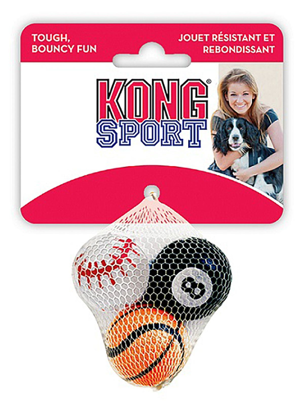 """Игрушки Игрушка для собак KONG Air Sport """"Теннисный мяч"""" очень маленький (в упаковке 3 шт) 4 см без пищалки ABS5E_1.jpeg"""