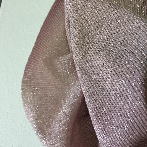 Ткань трикотаж розовый люрекс 3153