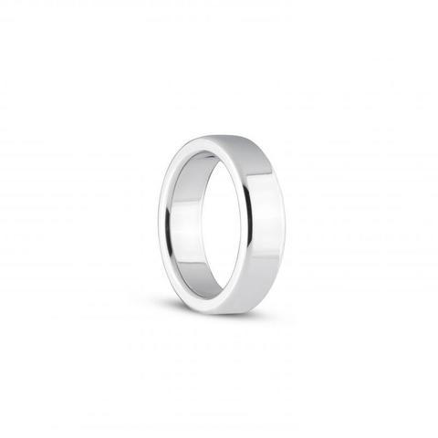 Серебристое эрекционное кольцо Heavy Cock Ring Size L