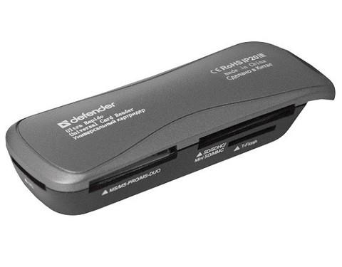 Defender / Картридер серия Ultra Rapido USB 2.0 | 4 слота