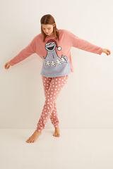 Довга піжама «Коржик» рожевого кольору