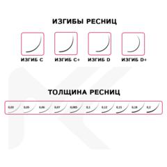 Коричневые ресницы МАК Natural Brown МИКС (16 линий)