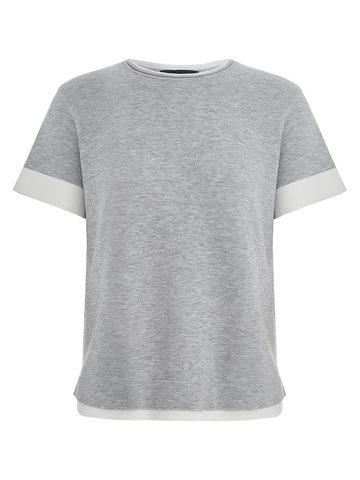 Женская футболка серого цвета из вискозы - фото 1