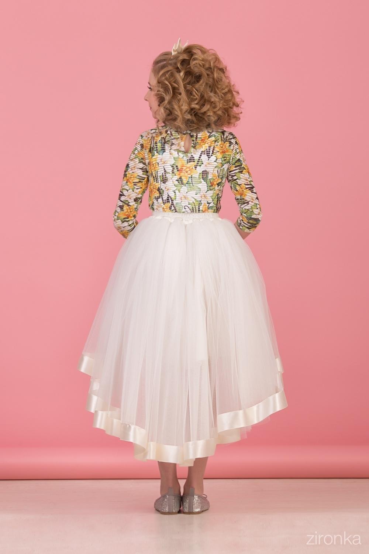 Комплект (блузка, майка, юбка) для девочки 64-8005-3