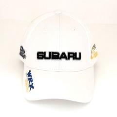 Кепка с вышитым логотипом Субару (Кепка SUBARU) белая