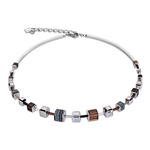 Колье Coeur de Lion 4881/10-1523 цвет коричневый, белый, серебряный, серый