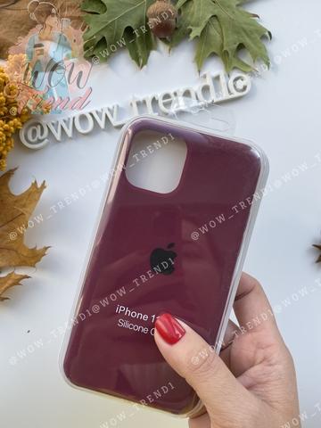 Чехол iPhone 11 Silicone Case /marsala/ марсал 1:1