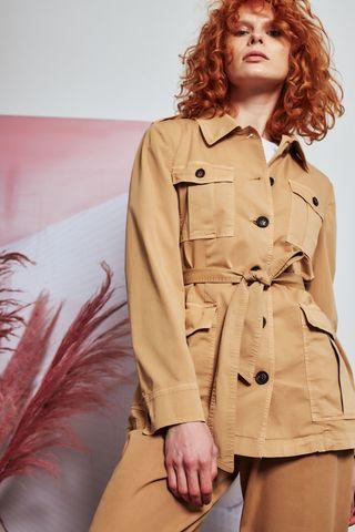 CAPPELLINI Жакет-рубашка в стиле сафари