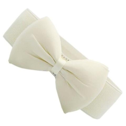 Купить Эластичный пояс с бантом (молочный) в Магазине тельняшек