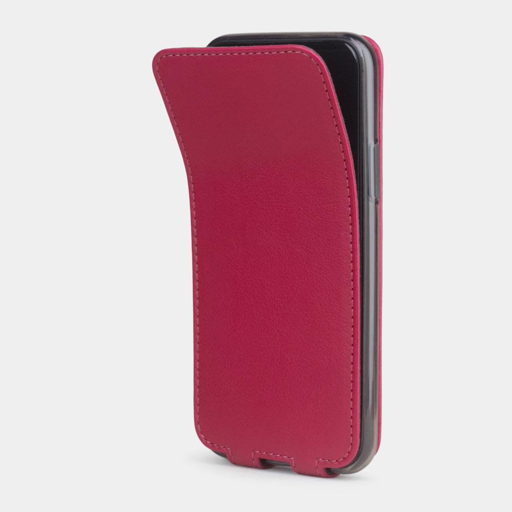 Чехол для iPhone 11 Pro Max из натуральной кожи теленка, цвета малины