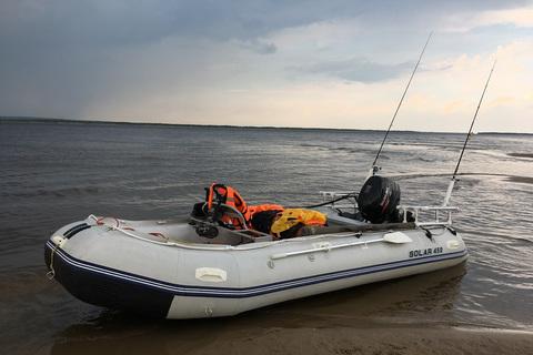 Надувная ПВХ-лодка Солар Максима - 450 МК (светло-серый)
