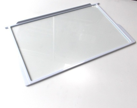Полка стеклянная с пластиковым обрамлением к холодильникам ARISTON, INDESIT, STINOL, СТИНОЛ 283167, 267567, 850910, 850920, 850924, 256492, 267892, 507848