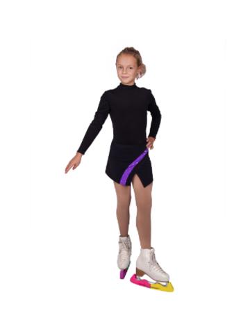 Юбка для тренировок для фигурного катания с цветной вставкой выполнена из ткани COLORADO