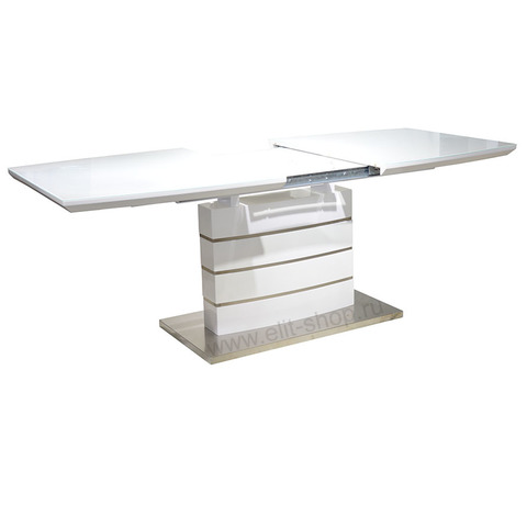 Стол DT211-1 Белый глянец / 160(200)х90см