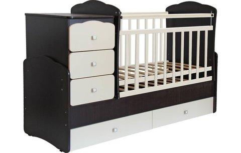 Кровать детская Фея 2100 венге-бежевый