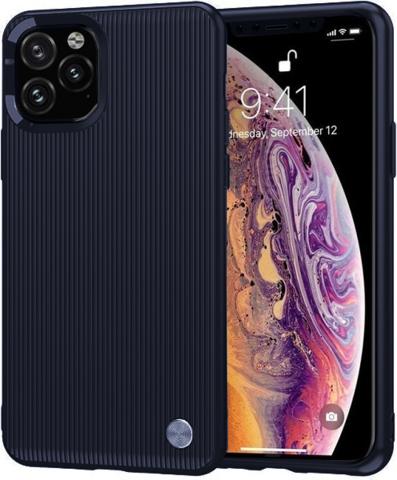 Carbon / Чехол для iPhone 11 Pro Max серия Вертикаль | синий